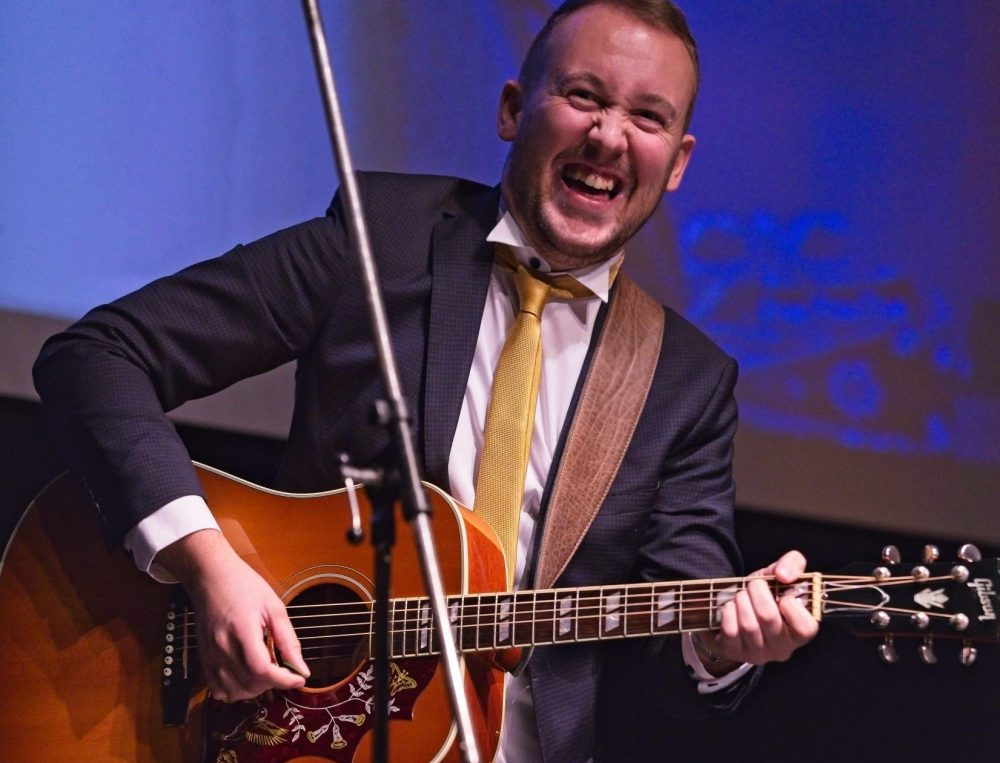 Liverpool-based musician Cal Ruddy performs from home for UK Charity Week