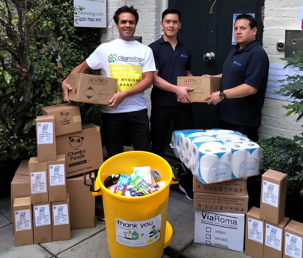 Cleanology's Christmas Appeal collects a tonne of donations for The Hygiene Bank