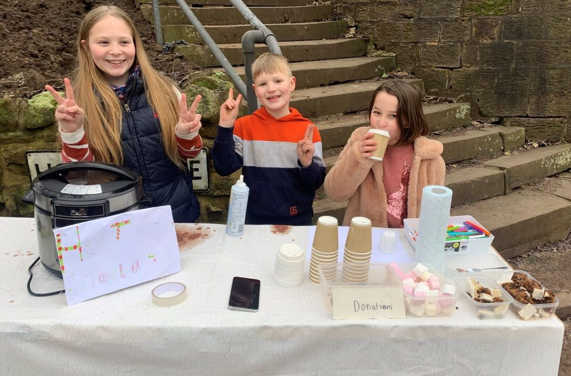 Children show their fundraising drive for NHS charity