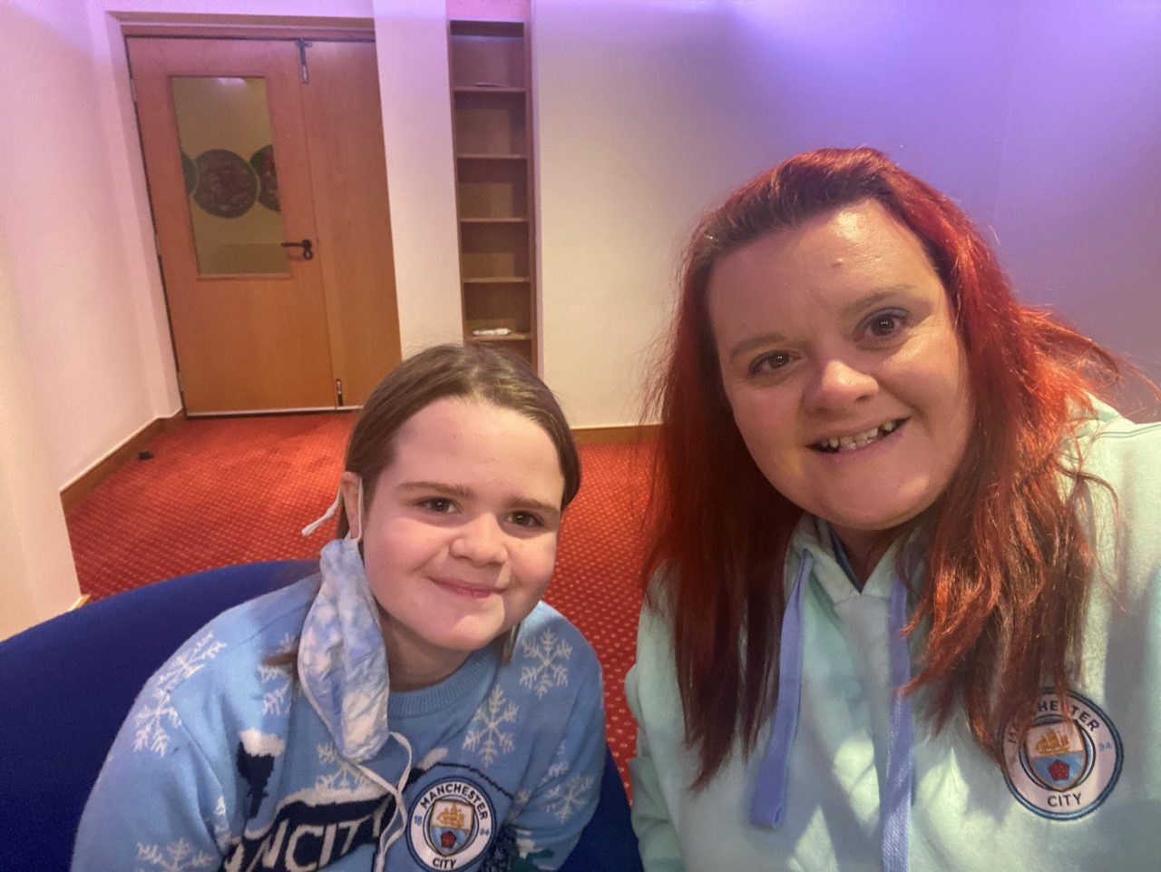 Manchester City spreads Christmas cheer on virtual video call to hospice families