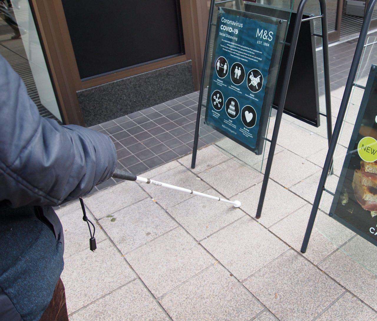 Inaccessible street designs endangering blind pedestrians
