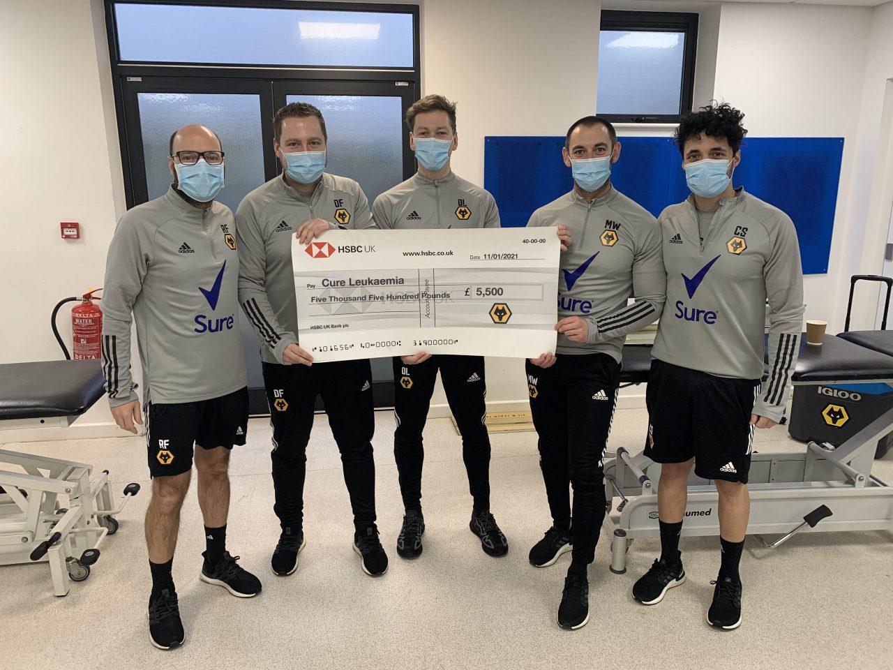 Wolves Medical Team help raise over £5,500 for Cure Leukaemia