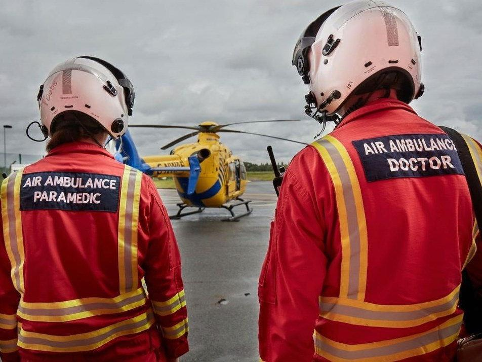 Former patient appeals for public's support to ease air ambulance's financial woes