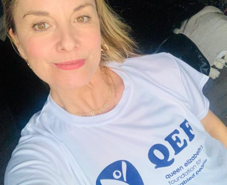 Tamzin Outhwaite supports disability charity's appeal