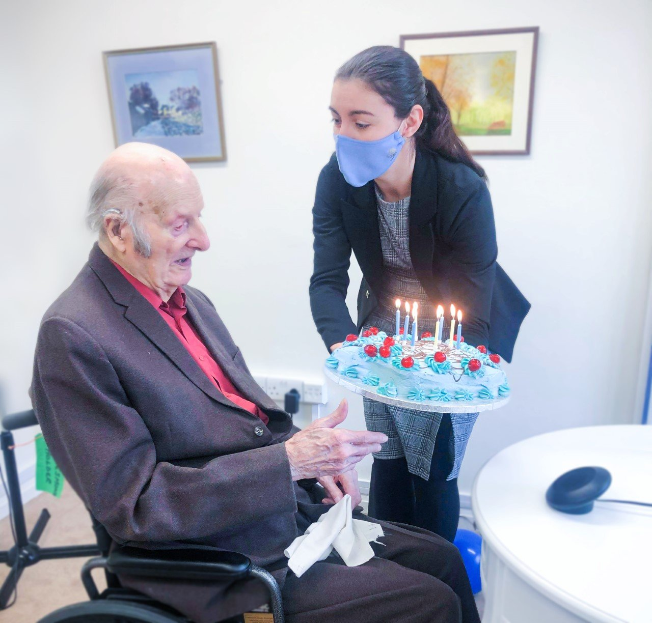 Care home celebrates residents 101st birthday with surprise family visit