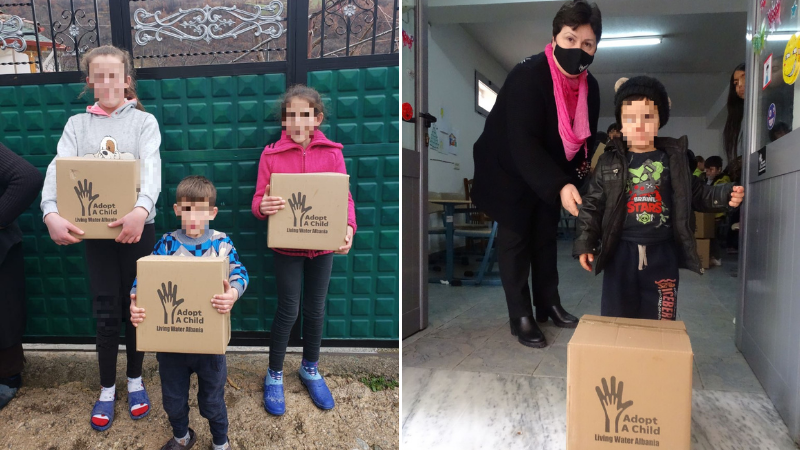 Adopt-A-Child: New food boxes for Albania