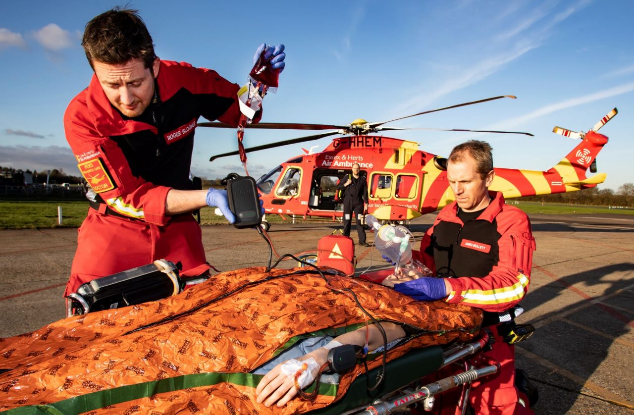 Essex & Herts Air Ambulance appeals for help keeping 'Blood on Board'