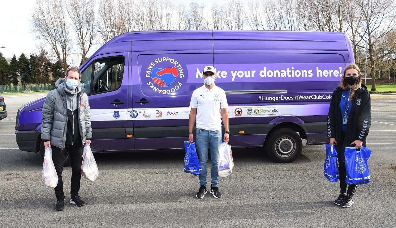 Football clubs put rivalries aside as part of a national food drive campaign