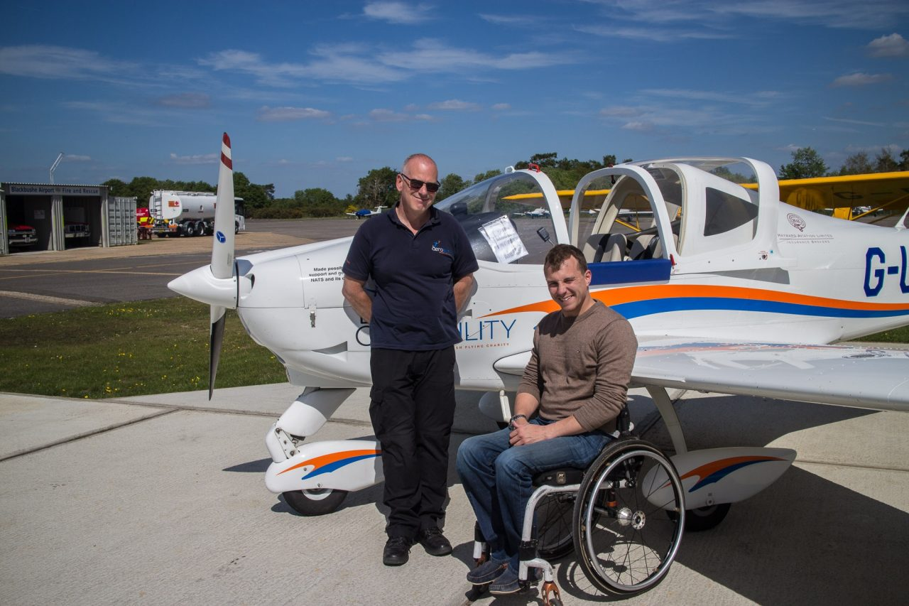 The aviation industry comes together once-again in support of disabled flying