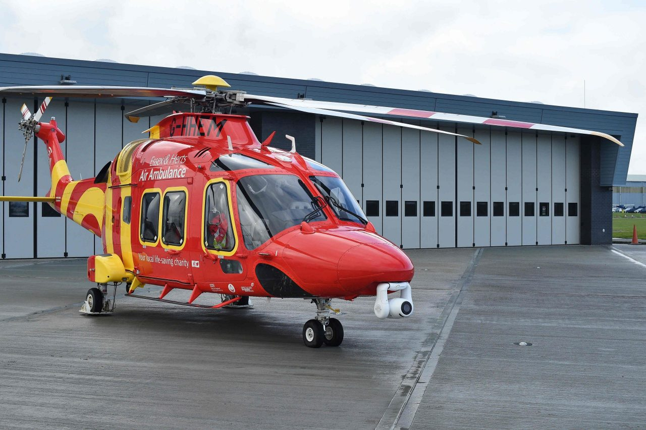 Historic first mission from new airbase for Essex & Herts Air Ambulance
