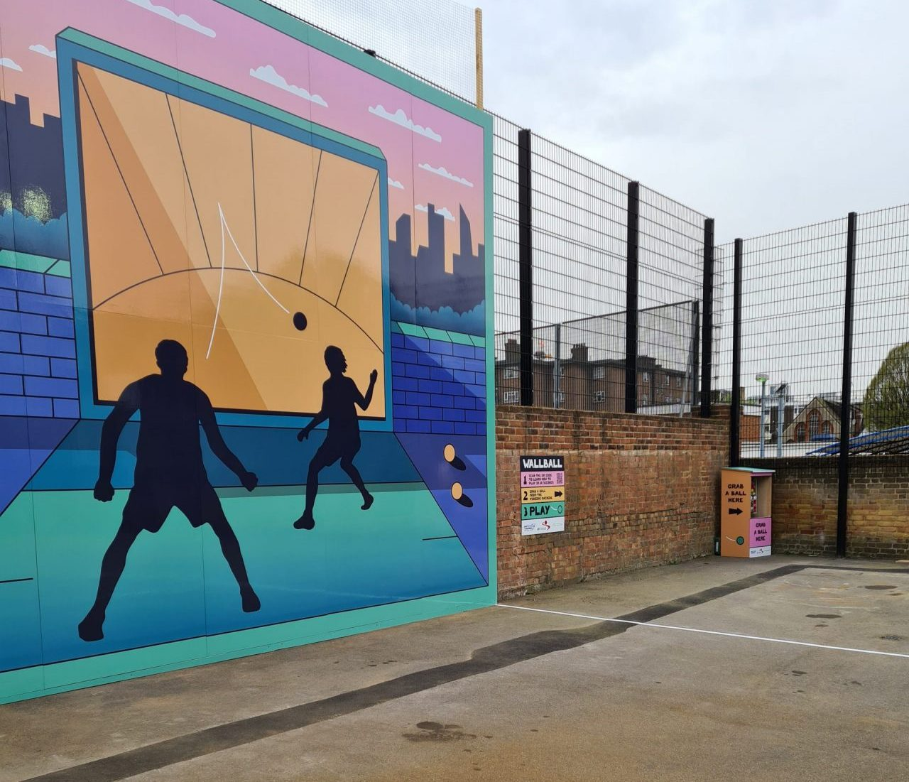 First ever UK community Wallball Court opening in London