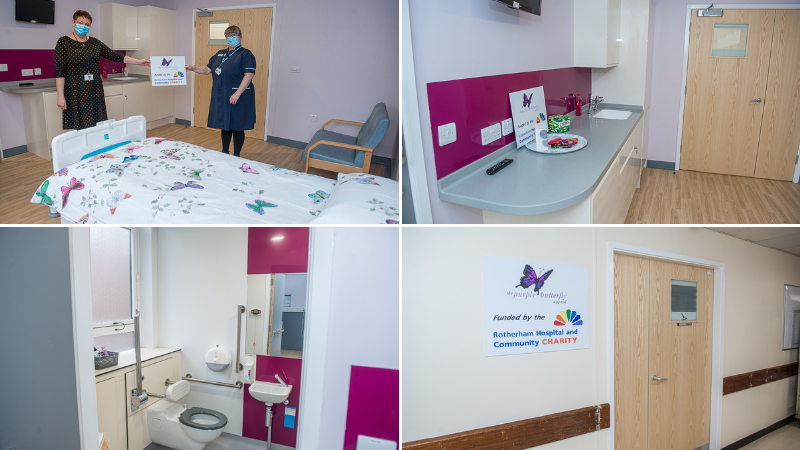A fourth Purple Butterfly room for Rotherham Hospital