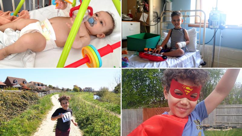 Superhero Asher Salisbury donned his cape to raise nearly £300