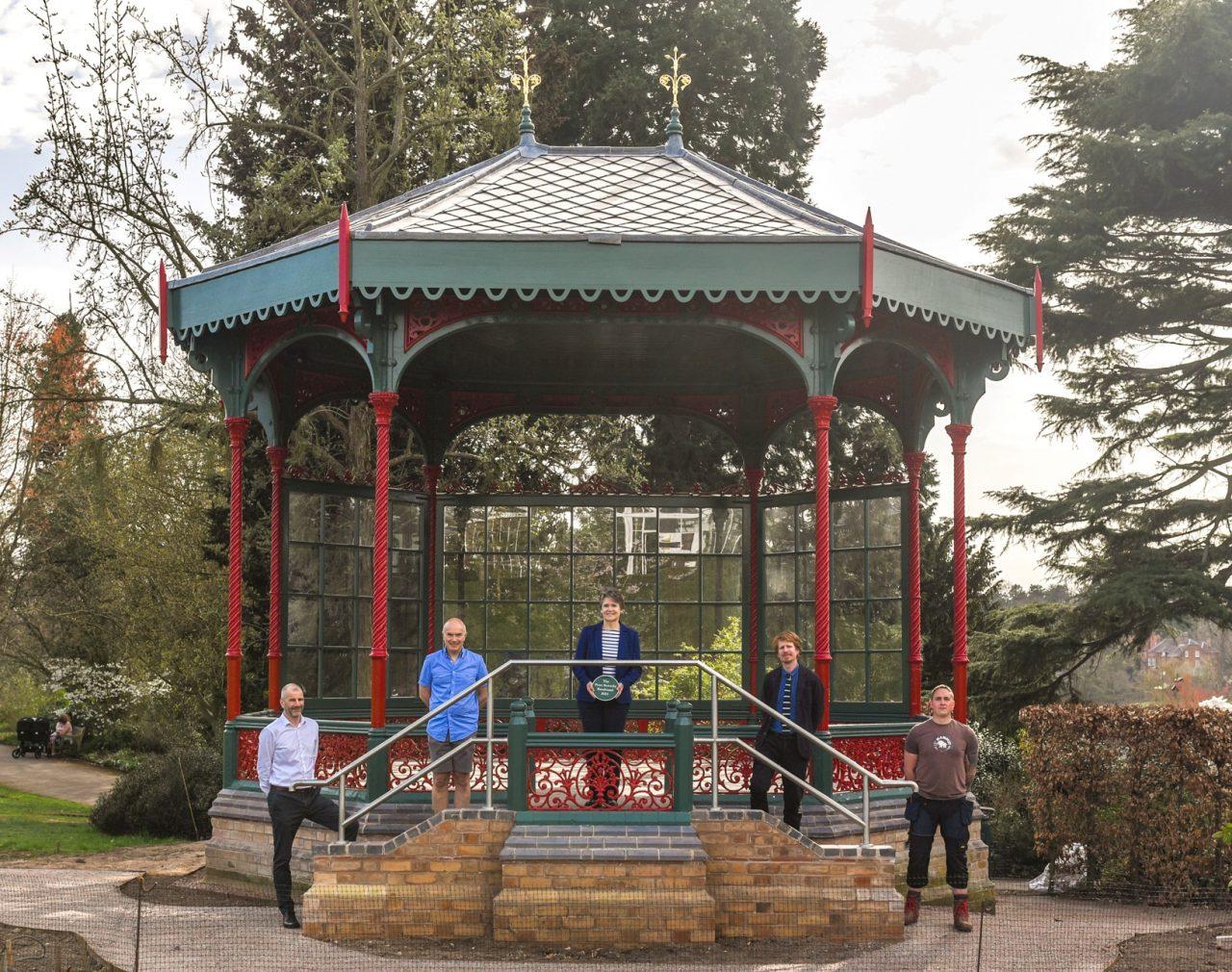 Restoration of Birmingham Botanical Gardens' historic bandstand complete