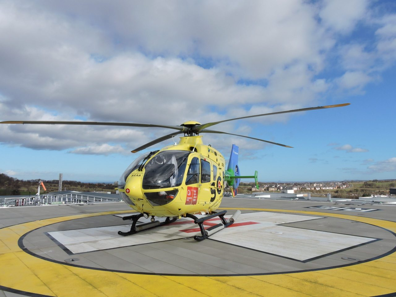 NHS Lothian's new helipad, supported by the HELP Appeal has lift off