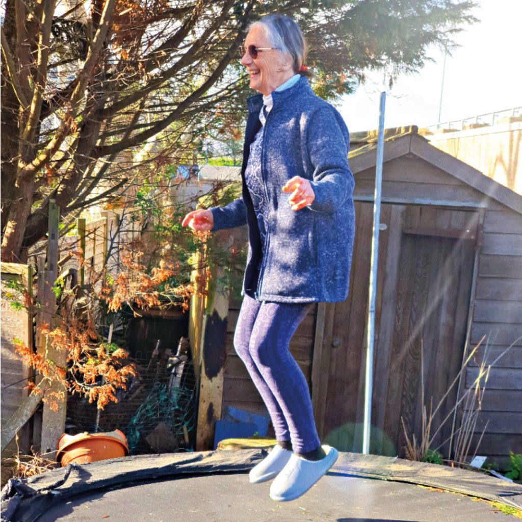'Jumping Grannie Jess' takes to a trampoline to raise funds for local hospice