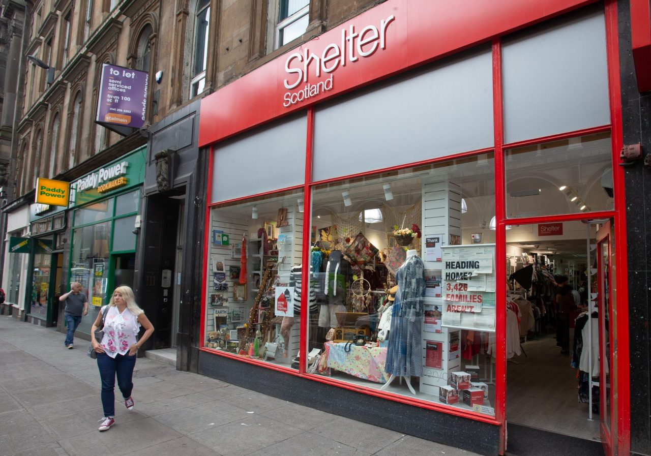 Shelter Scotland shops opening up to receive donations in Edinburgh, Glasgow and Paisley