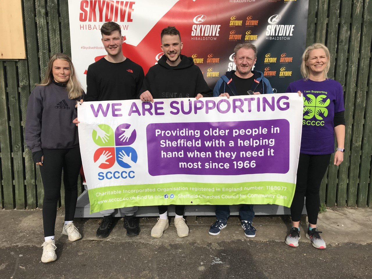 Record breaking skydive raises thousands for Sheffield older persons' cause