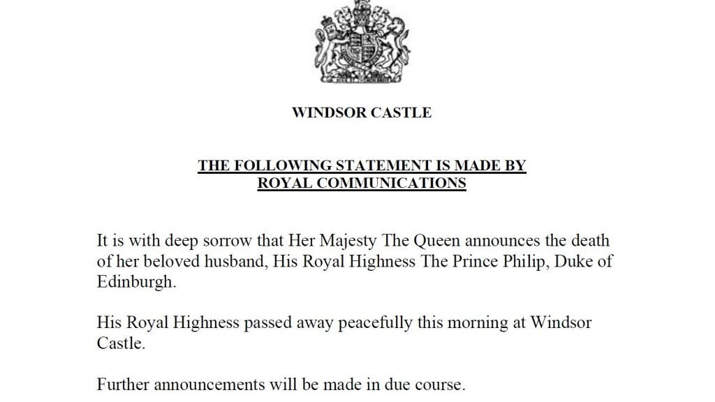 Charities pay tribute as The Duke of Edinburgh, Prince Phillip, passes away aged 99