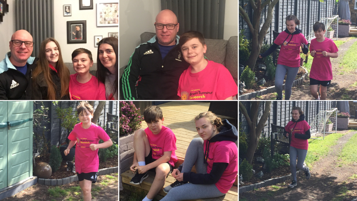 Teen running four marathons in May for dad who has a rare cancerous brain tumour