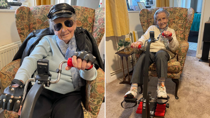 98-year-old takes up indoor sponsored cycle ride challenge for 80 days