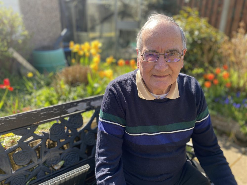 Man alone since wife's care home move hails impact of charity chats