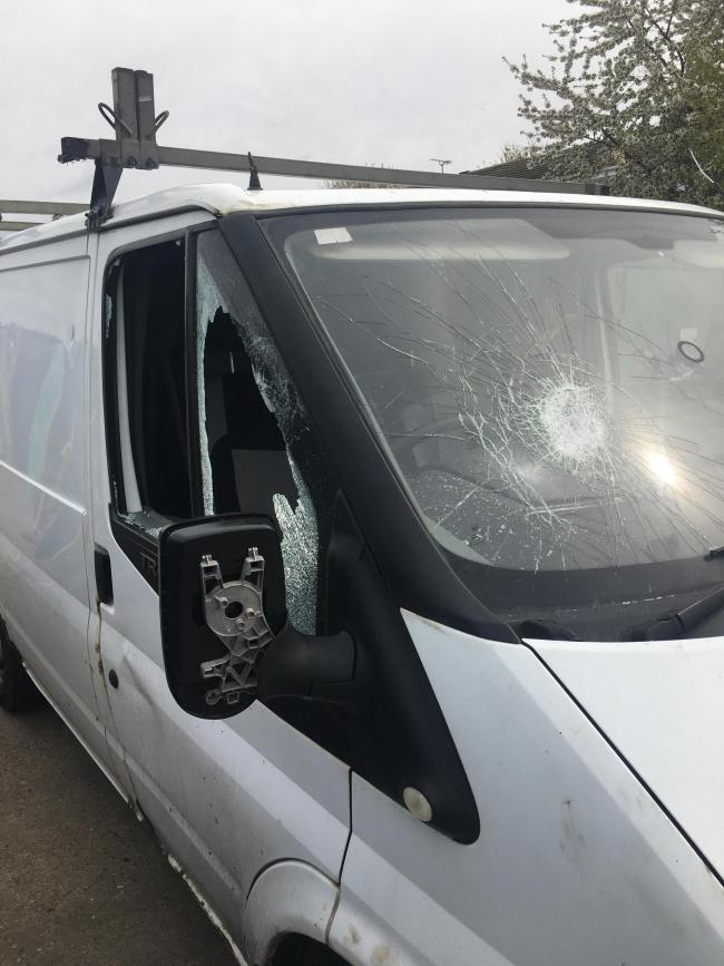 Vandals hit a mother's charity van three times, leaving her family terrified