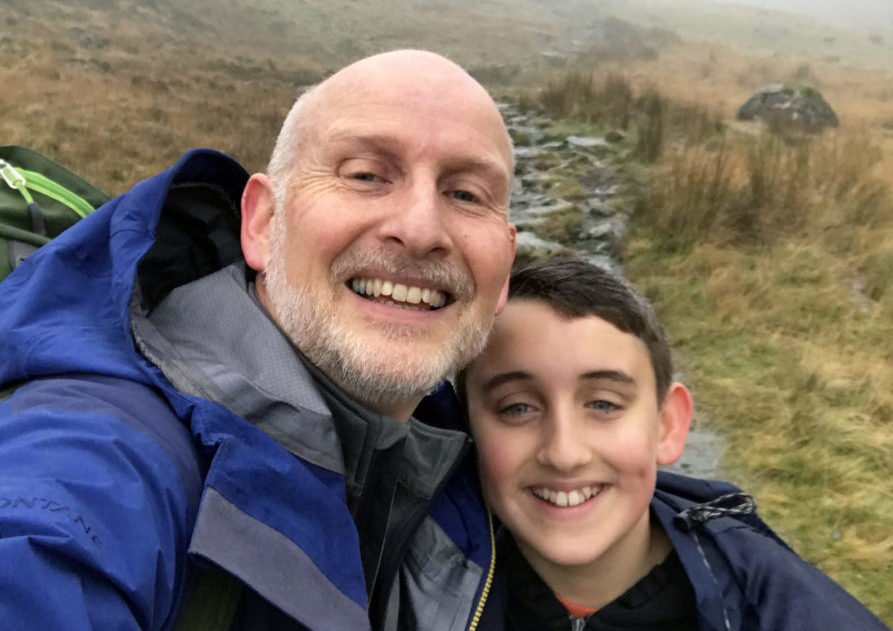 Father and son embark on mountain adventure after teen's shock cancer diagnosis
