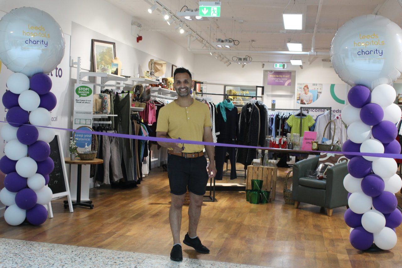 Dr Amir Khan opens charity shop supporting local NHS hospitals