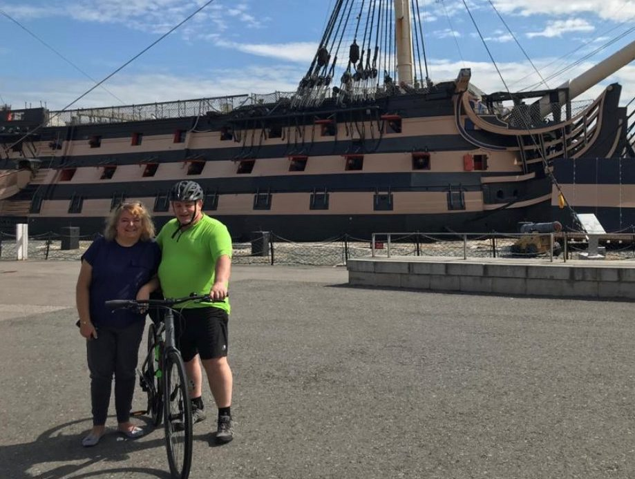 Former marine takes on mammoth cycle to raise money for sailing charity
