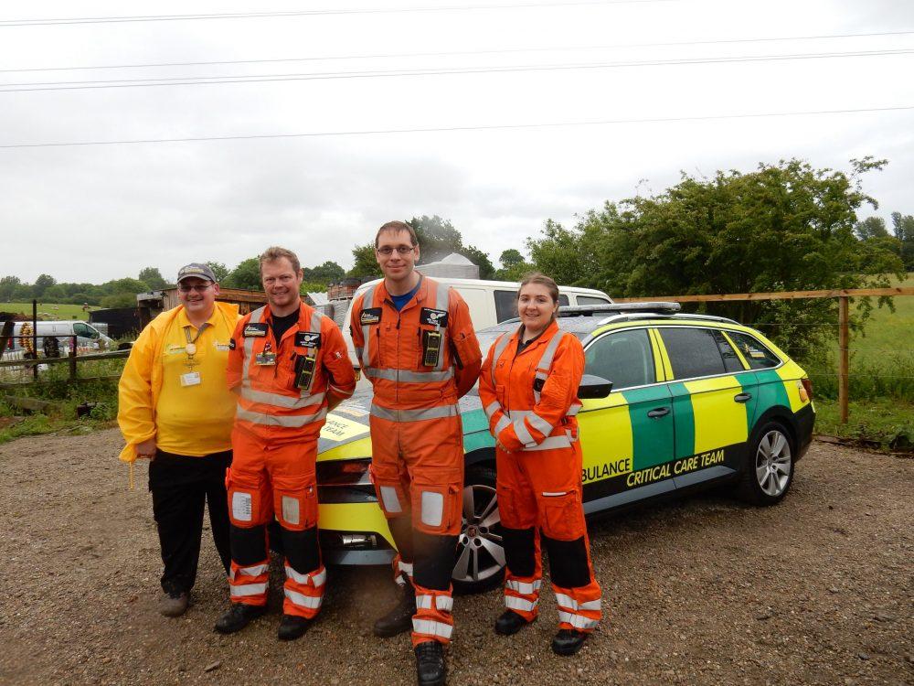 Air Ambulance Service thanks dedicated Derbyshire volunteer for raising over £400k