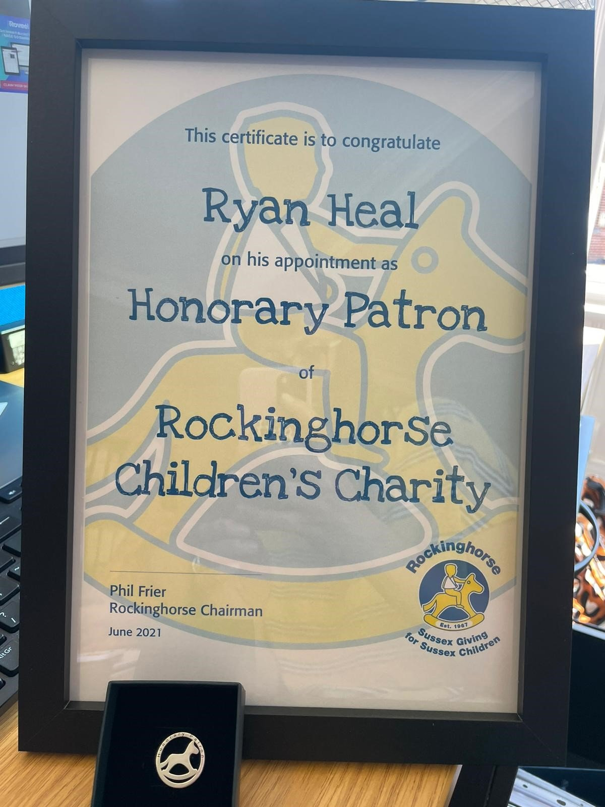 New Honorary Patron for Rockinghorse