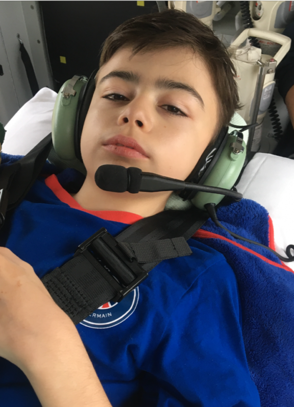 Norfolk boy's helicopter transfers featured in national charity campaign
