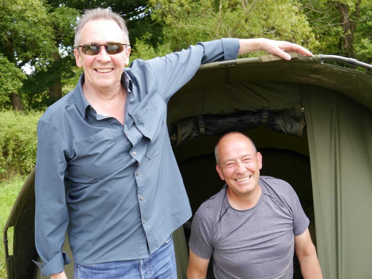 Comedian Paul Whitehouse attends charity fishing trip