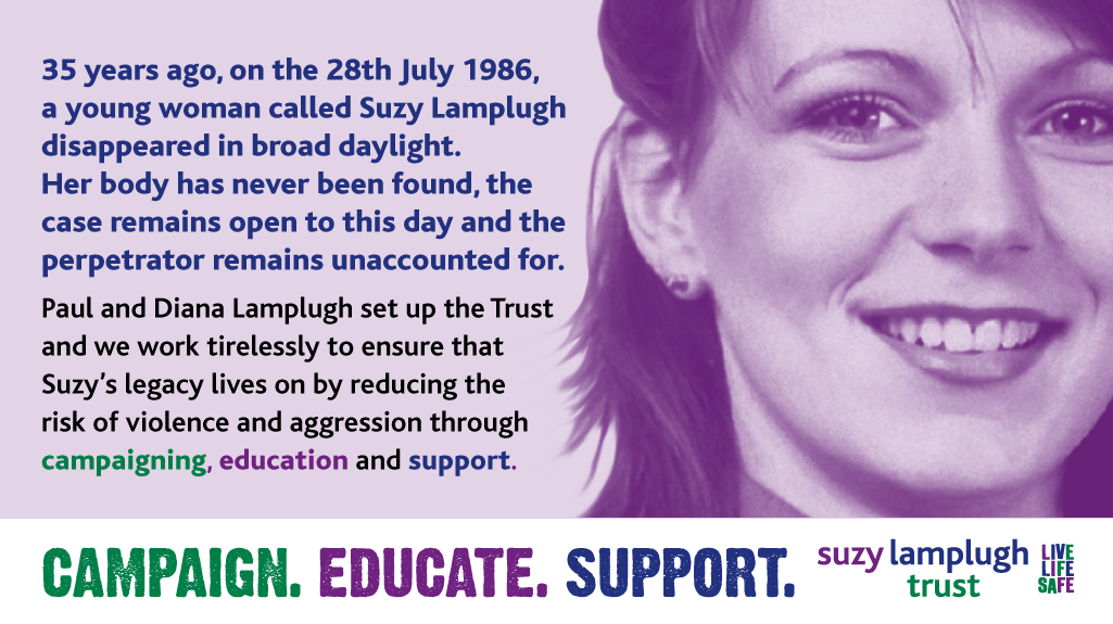 Suzy Lamplugh Trust: Marking thirty-five years after Suzy's disappearance