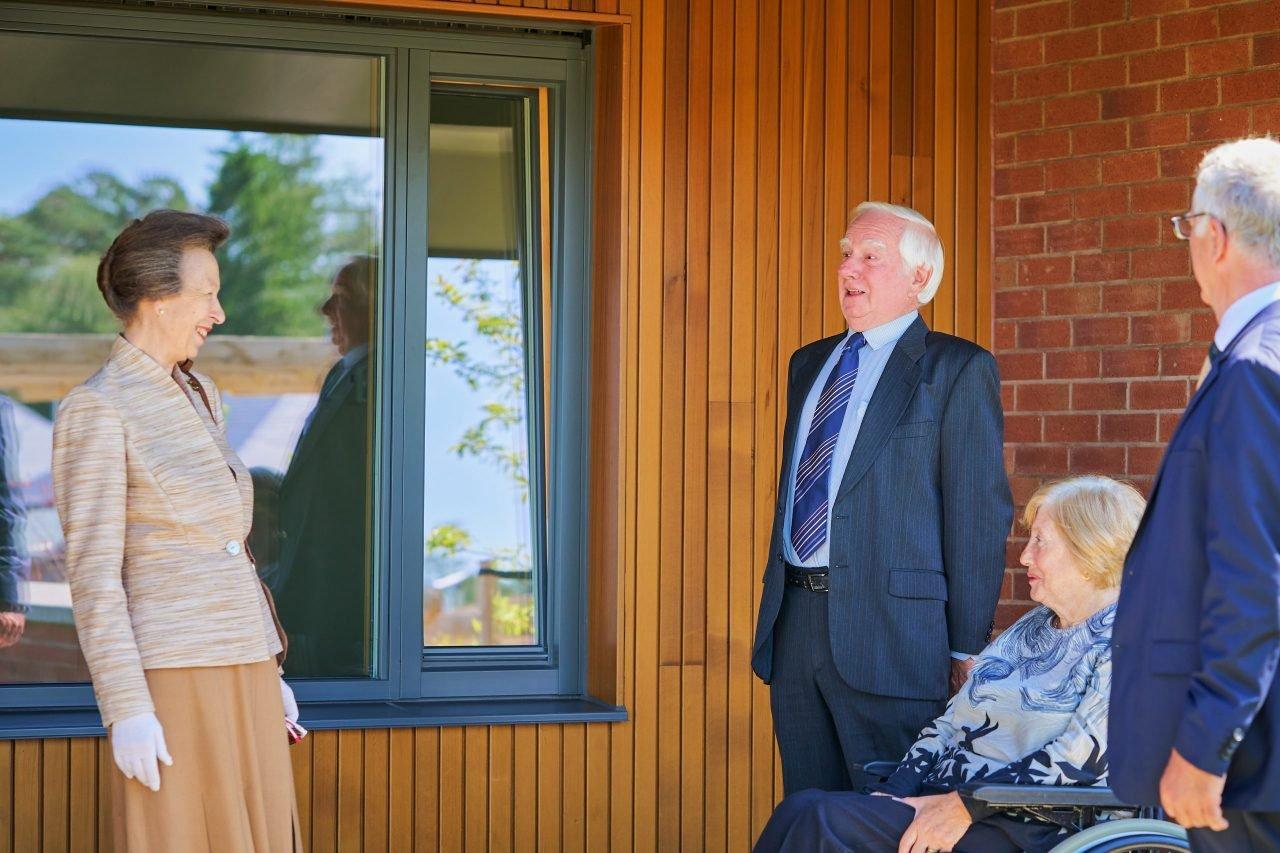 HRH The Princess Royal visits Gannochy Trust's new housing development in Perth