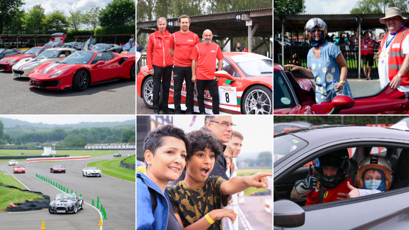 Supercars worth £18m raise thousands of pounds for children with brain injury