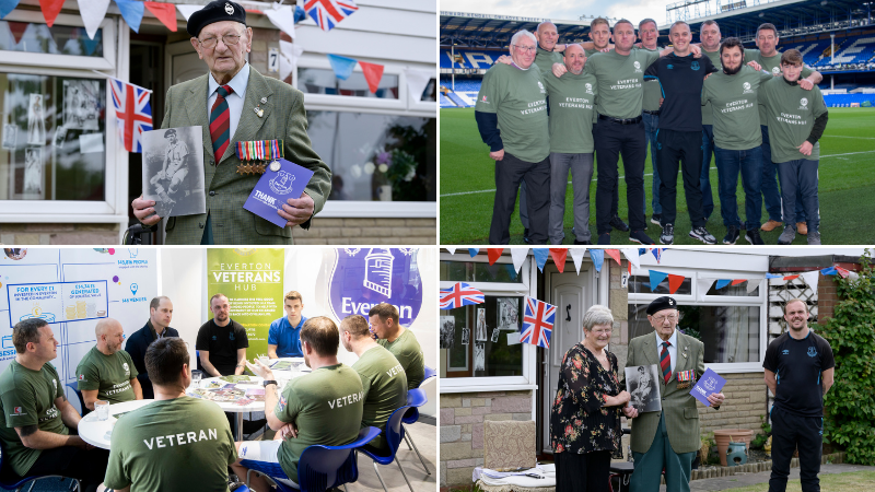 Everton in the Community recognised for contribution to armed forces community