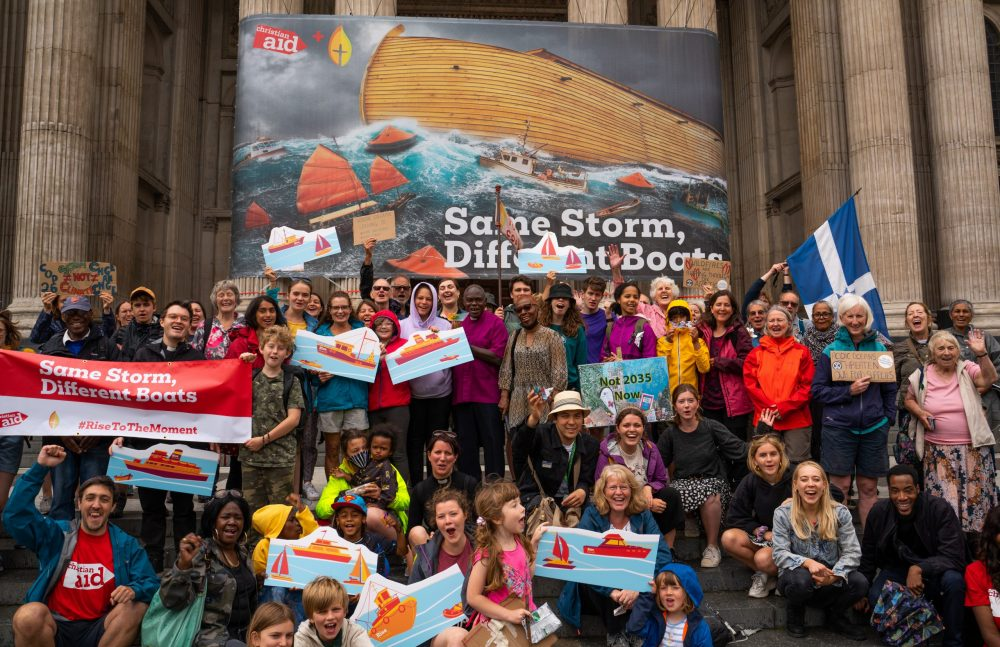 Giant artwork stationed at St Paul's Cathedral to highlight climate emergency