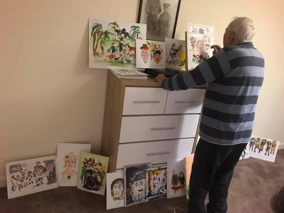 Tee-riffic! Birmingham man paints for RNIB