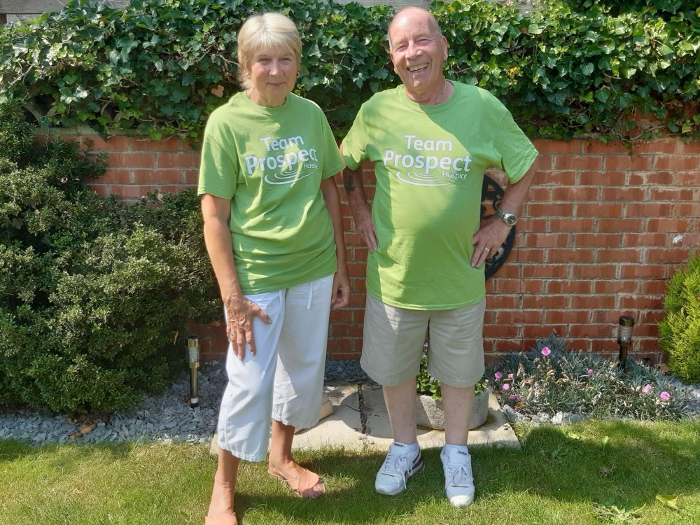 An amazing step challenge by hospice supporters