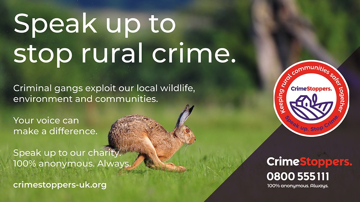 Crimestoppers appeals for anonymous information on those harming the countryside