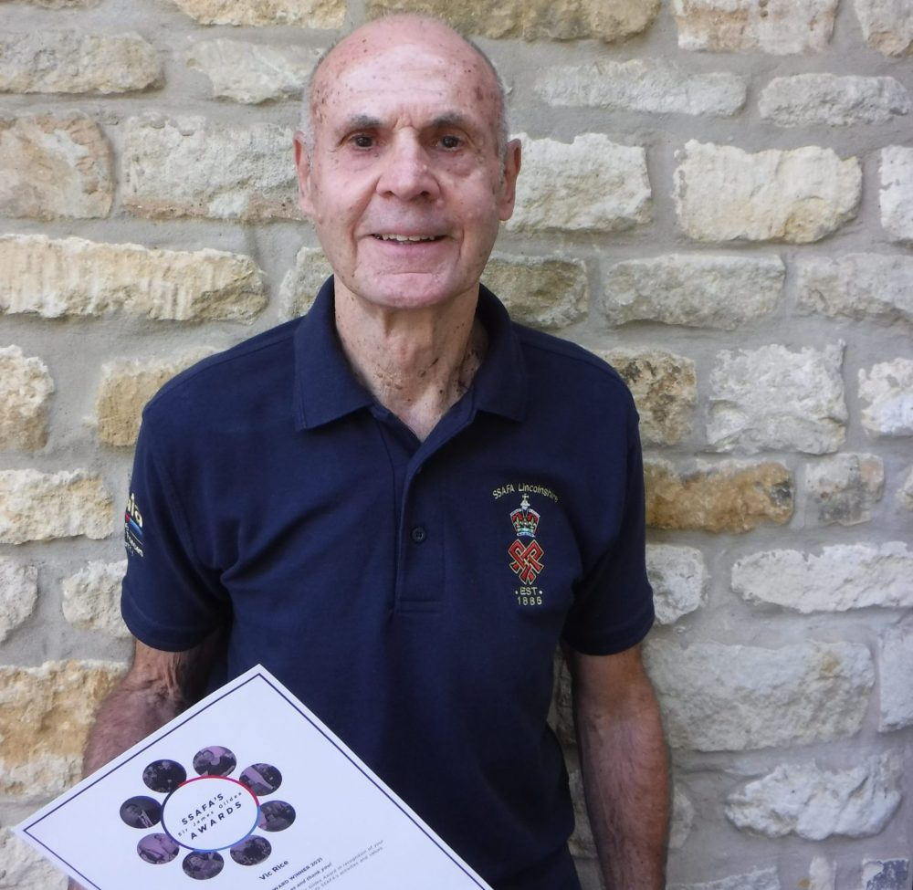 Volunteer and RAF veteran awarded for service to SSAFA, the Armed Forces charity