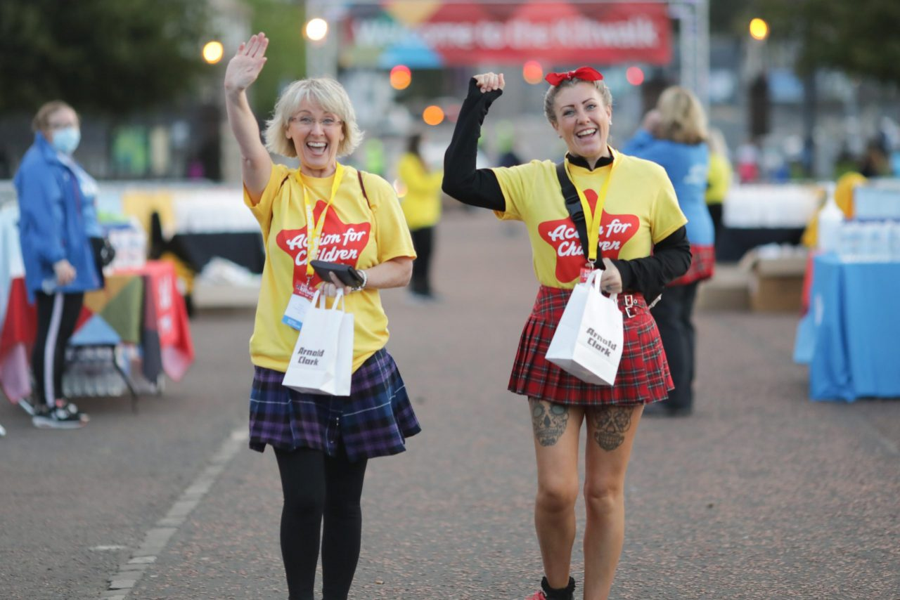 Kiltwalkers stride out to help Scotland's charities