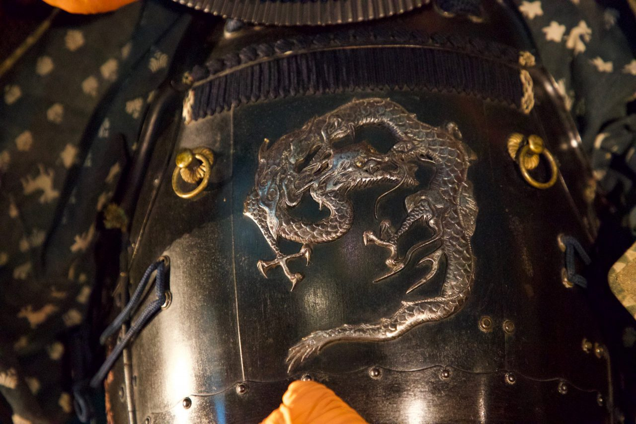 Magnificent samurai armour returns to unique National Trust manor after 300 hours of conservation