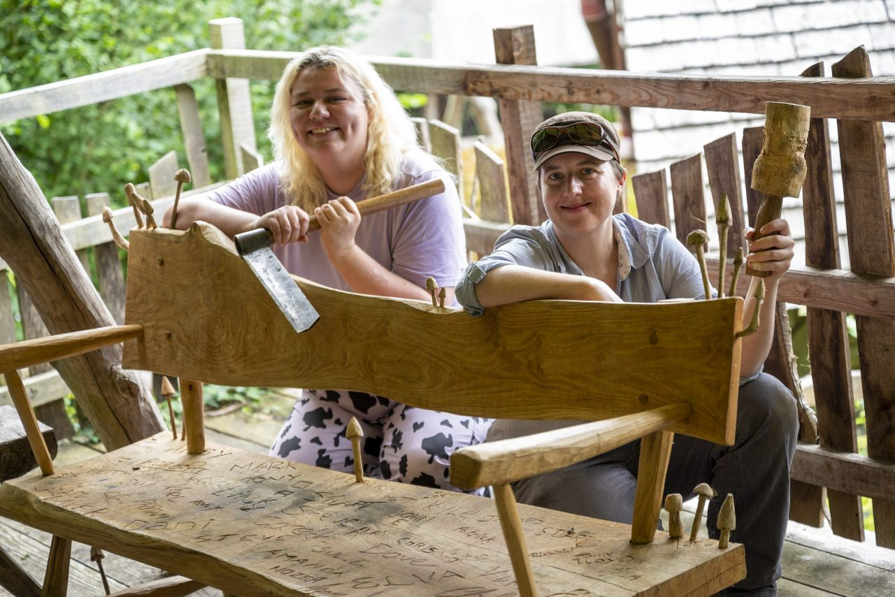 UK-wide charity helps people battle isolation through bench building project at Shropshire HQ