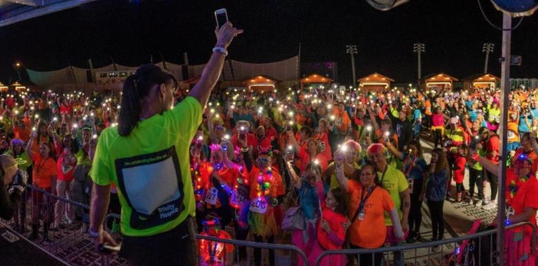 Hundreds take memory walk under the bright lights of Blackpool