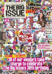 The Big Issue marks its 30th birthday with a special vendor takeover edition of the magazine