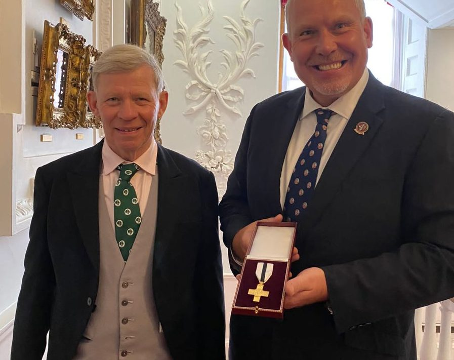 Beneficiary of The Not Forgotten awarded prestigious medal for 20-years voluntary service
