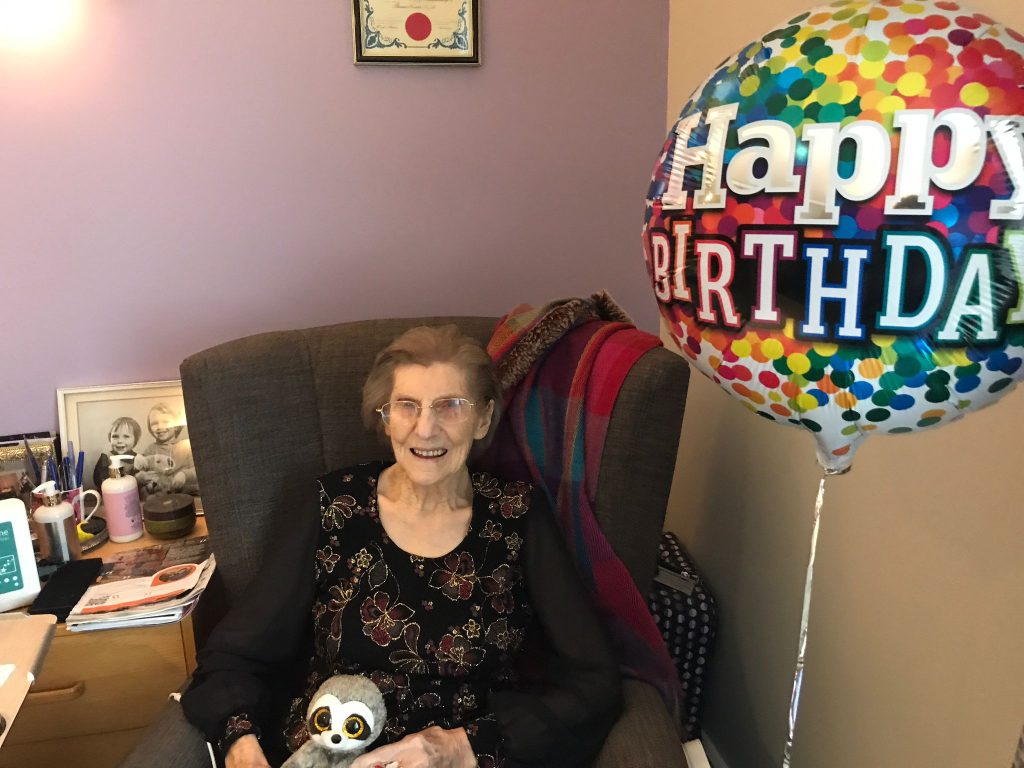 Resident Ena enjoys pampering and a party for 103rd birthday